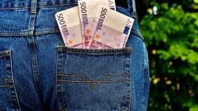 pieniądze, kieszen, rolnik